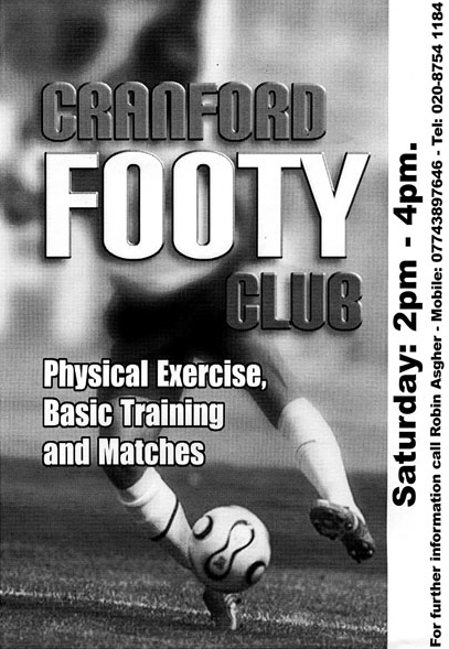 Cranford Footy Club flyer